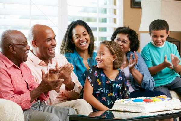 Multi Generation Family Celebrating Daughter's Birthday Stock photo © monkey_business