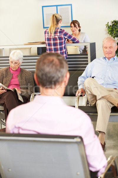 Patients In Doctor's Waiting Room Stock photo © monkey_business