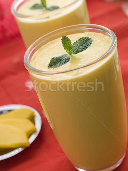 Gafas mango lado interior bebidas menta Foto stock © monkey_business