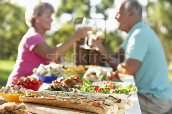 Stockfoto: Paar · dining · ander · man