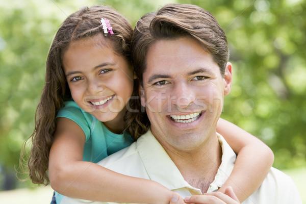 Homme jeune fille extérieur souriant amour Photo stock © monkey_business