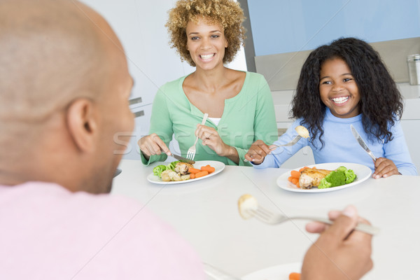 Família alimentação juntos criança mãe almoço Foto stock © monkey_business