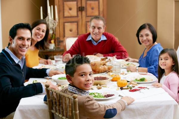 Többgenerációs család ünnepel hálaadás család lány nők Stock fotó © monkey_business