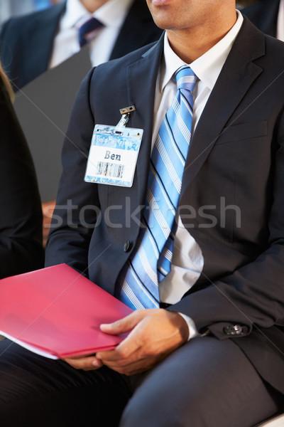 Részlet üzletember konferencia üzlet férfi férfiak Stock fotó © monkey_business