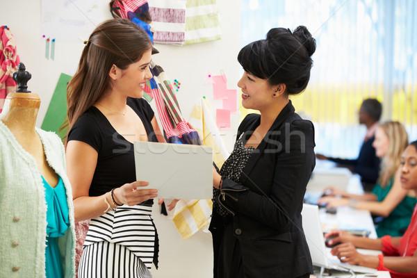 Two Women Meeting In Fashion Design Studio Stock photo © monkey_business