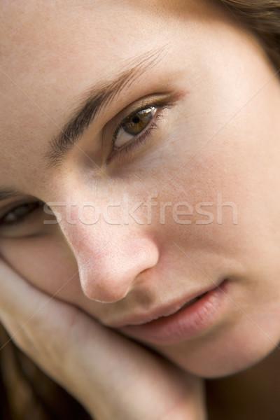 Сток-фото: голову · выстрел · женщину · мышления · печально · портрет