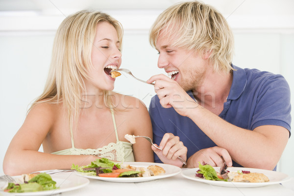 Young Couple Enjoying meal,mealtime Together Stock photo © monkey_business