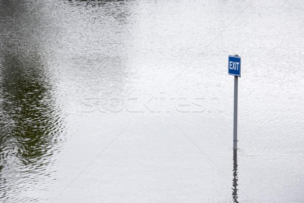Wasser Hochwasser Straßen Farbe england Wetter Stock foto © monkey_business
