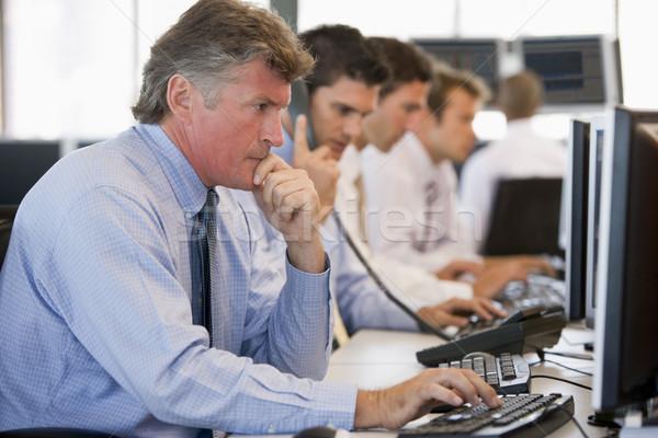 Stock lavoro business telefono imprenditore uomini Foto d'archivio © monkey_business