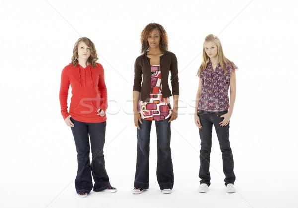 Tam uzunlukta portre üç kız arkadaşlar Stok fotoğraf © monkey_business