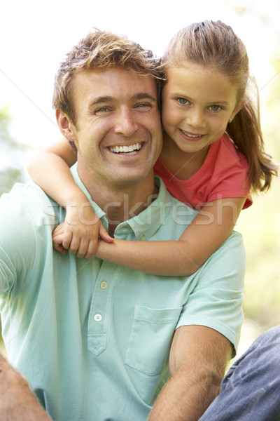 Portrait Of Father And Daughter In Park Stock photo © monkey_business