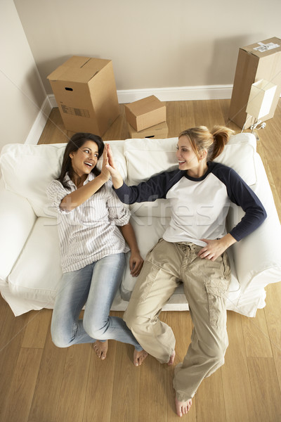Stock photo: Girlfriends Moving Into New Home