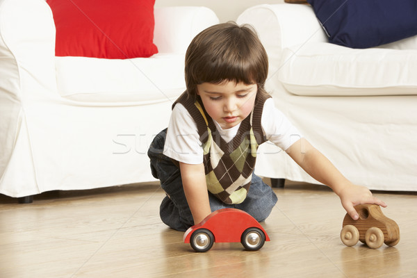 Young Boy Playing With Toy Cars At Home Stock photo © monkey_business