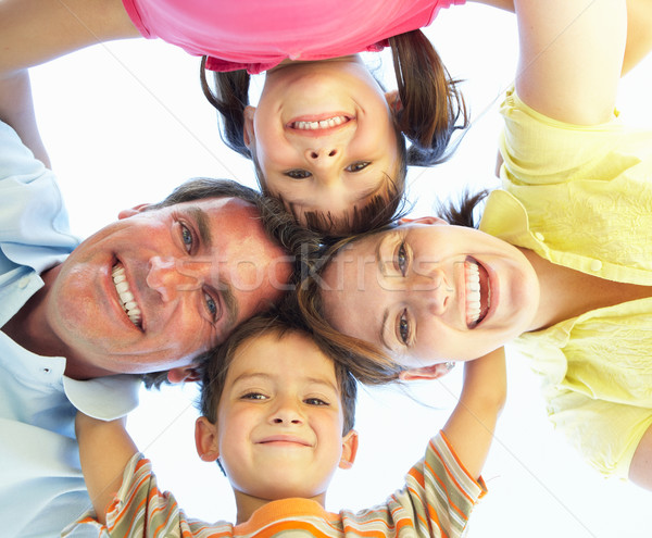 Family Group Looking Down Into Camera Stock photo © monkey_business