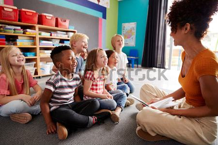 Teachers Playing Guitar With Pupils Having Music Lesson In Class Stock photo © monkey_business