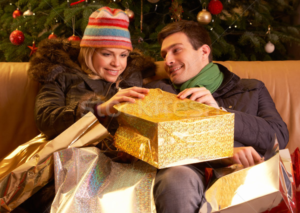 Couple Returning After Christmas Shopping Trip Stock photo © monkey_business