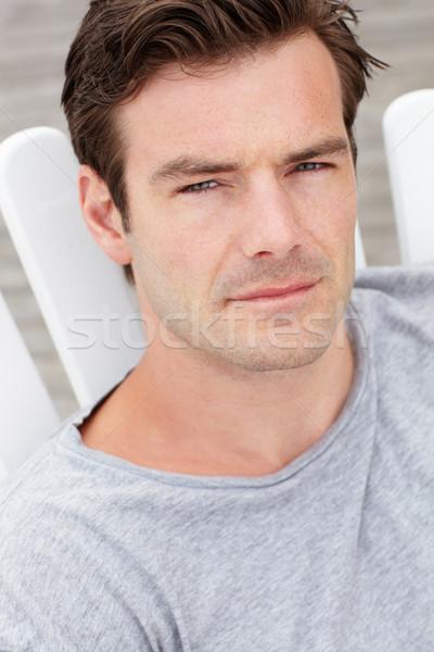 Głowie plecy portret człowiek odkryty osoby Zdjęcia stock © monkey_business