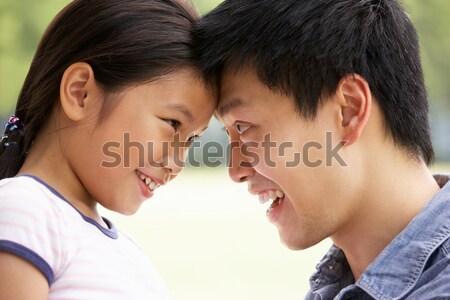 Portret chinez tată fiica uita alte Imagine de stoc © monkey_business