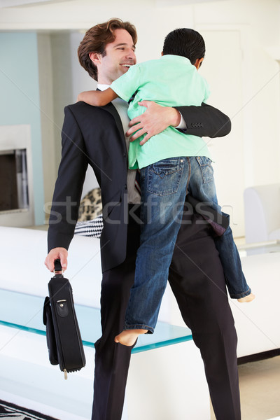 Son Greets Father On Return From Work Stock photo © monkey_business