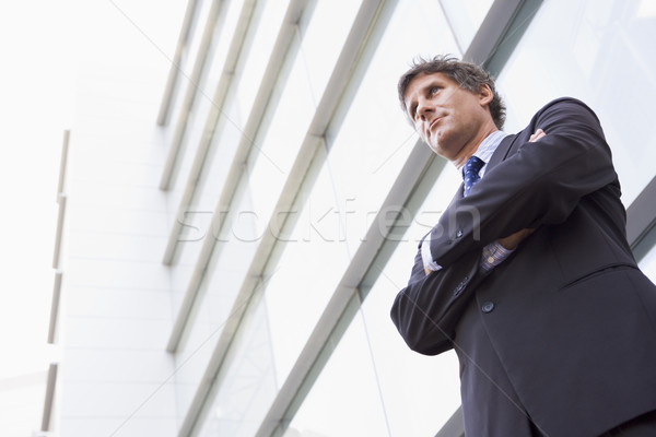 Foto stock: Empresario · pie · aire · libre · edificio · negocios · oficina