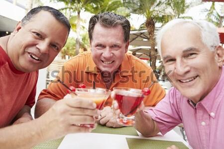 Stock fotó: Kettő · párok · nappali · iszik · pezsgő · mosolyog