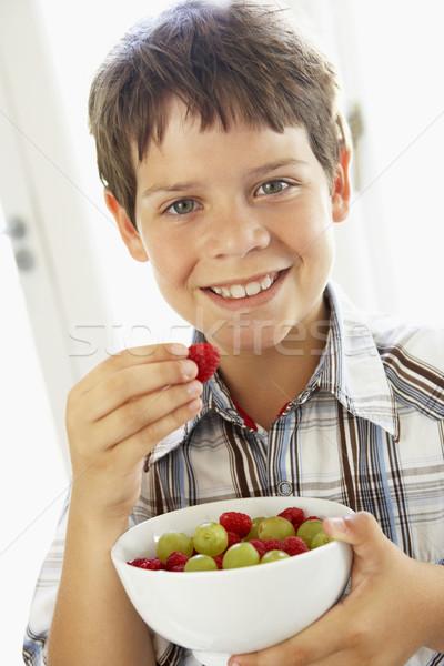 ストックフォト: 食べ · ボウル · 新鮮果物 · 食品 · フルーツ
