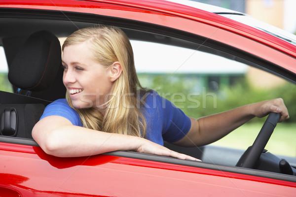十代の少女 座って 車 少女 成功 代 ストックフォト © monkey_business