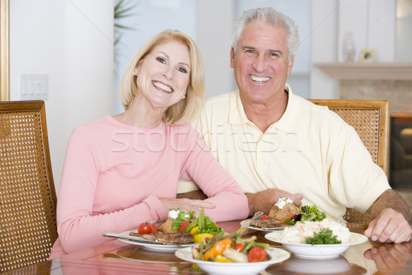Elderly Couple Enjoying Healthy meal,mealtime Together Stock photo © monkey_business