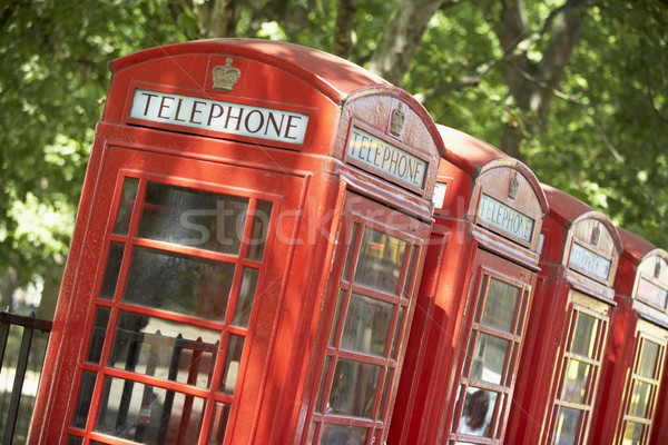 Red Telephone Booths In A Row Stock photo © monkey_business