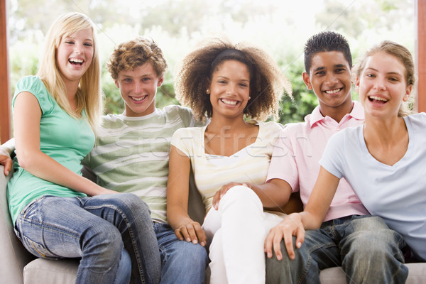 Group Of Teenagers Sitting On A Couch Stock photo © monkey_business