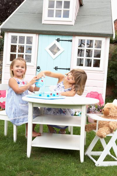 Due giovani ragazze giocare esterna bambini Foto d'archivio © monkey_business