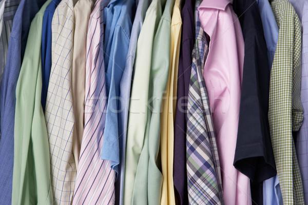 Rail of men's shirts Stock photo © monkey_business