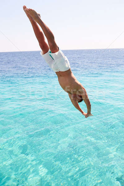 Man Diving Into Sea Stock photo © monkey_business