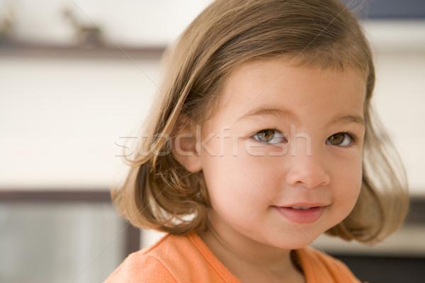 Fiatal lány bent lány baba gyermek női Stock fotó © monkey_business