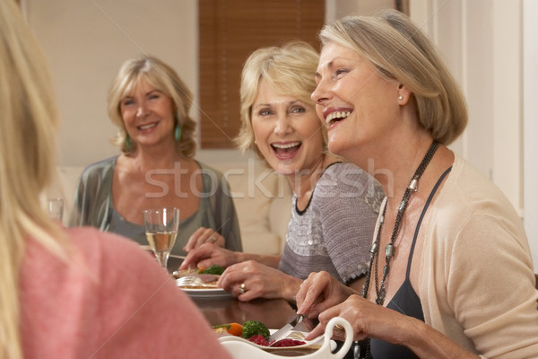 Friends At A Dinner Party Stock photo © monkey_business