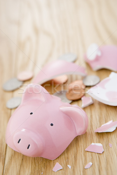 Smashed Piggy Bank Stock photo © monkey_business