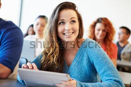 Сток-фото: школьница · школу · класс · человека · счастливым · студент