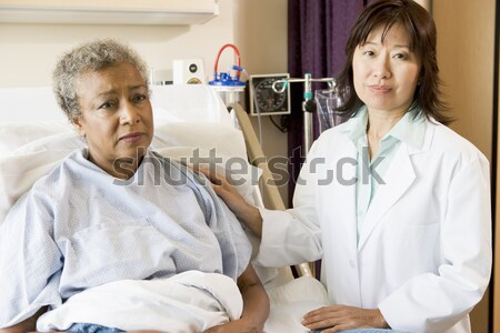 A Nurse Making A Bed In A Hospital Ward Stock photo © monkey_business