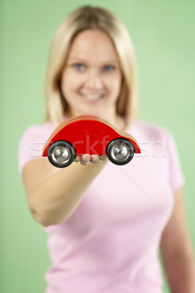 Woman Holding Toy Car Stock photo © monkey_business