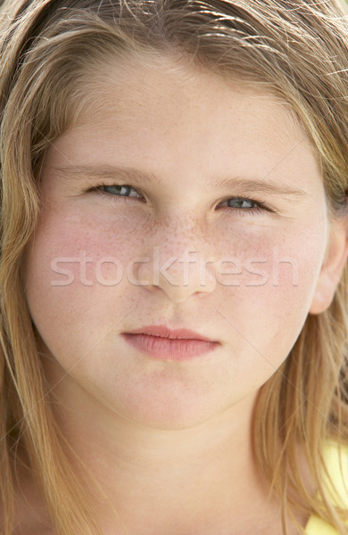 Kids Portraits, Shocked, Surprised, Girl, Disbelief, Kids, Heads Stock photo © monkey_business
