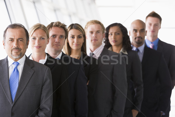 Group of office staff lined up Stock photo © monkey_business