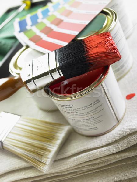 краской цвета Колеса Сток-фото © monkey_business