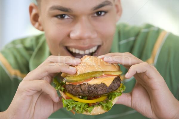 Foto stock: Comer · Burger · alimentos · cocina · queso