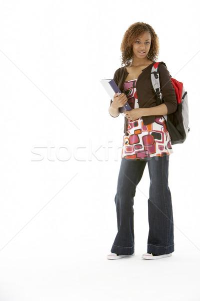 Full Length Studio Portrait Of Female Teenage Student Stock photo © monkey_business