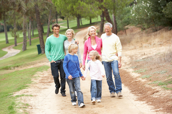 Three Generation Family enjoying walk in park Stock photo © monkey_business