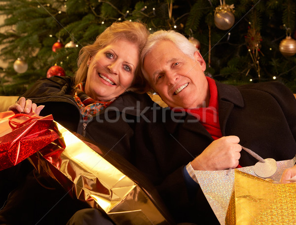 Senior Couple Returning After Christmas Shopping Trip Stock photo © monkey_business