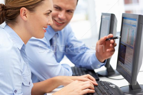 Uomo d'affari donna lavoro computer business uomo Foto d'archivio © monkey_business