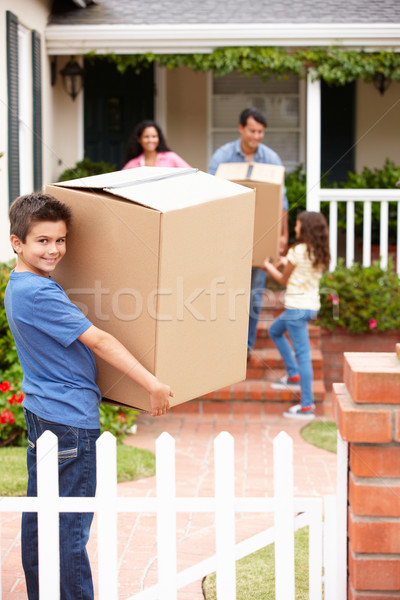 Family moving into rented house Stock photo © monkey_business