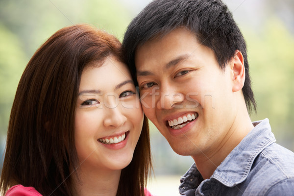 Head And Shoulders Portrait Of Young Chinese Couple Stock photo © monkey_business