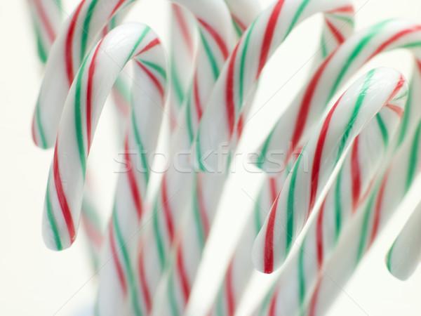 Noël menthe poivrée bonbons alimentaire repas bonbons Photo stock © monkey_business